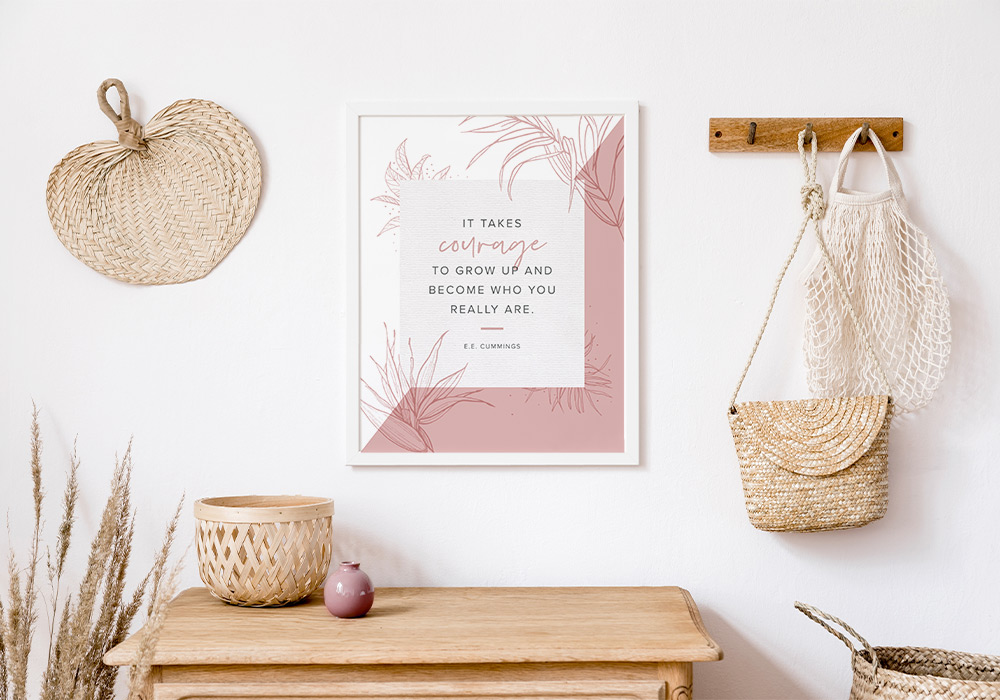 courage power word wall art