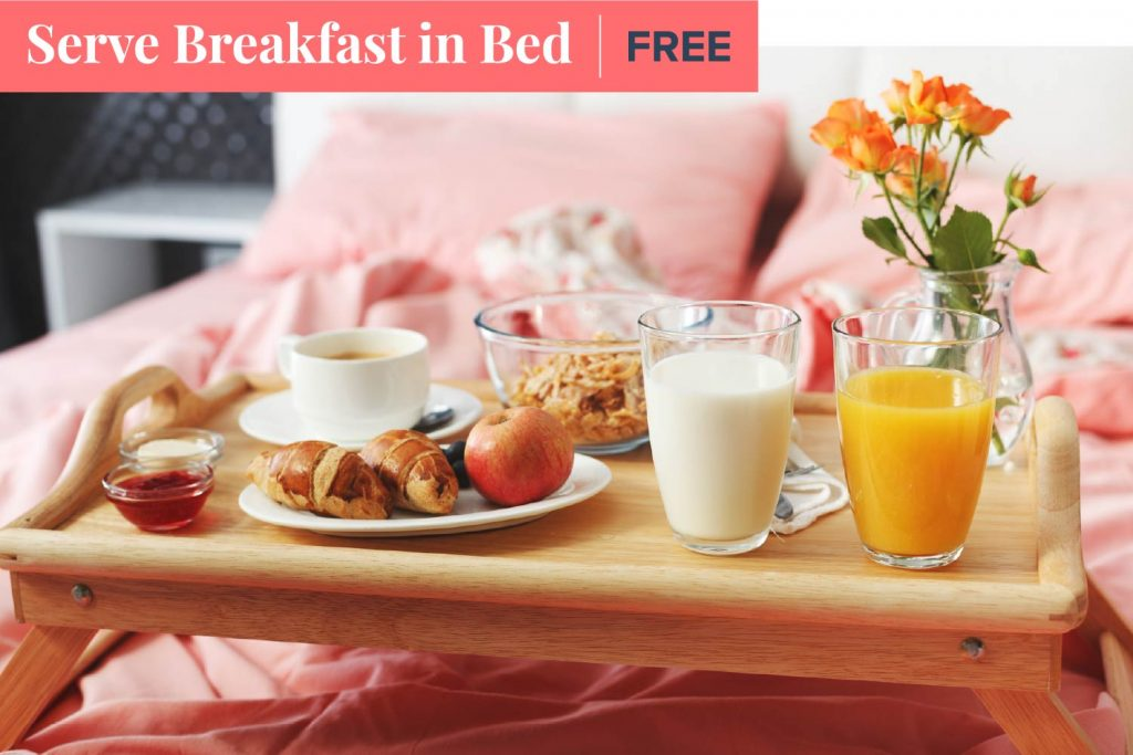 serve breakfast in bed on mother's day