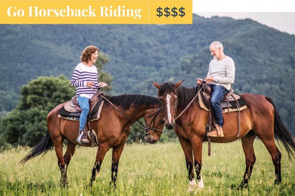 go horseback riding on mother's day
