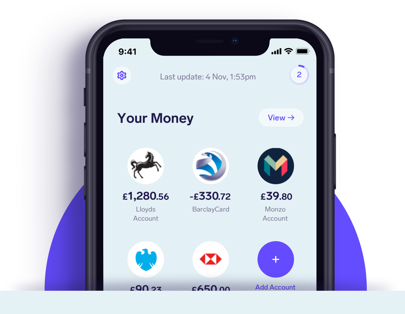 Home - Features | See all your bank accounts together - Image (Launch)