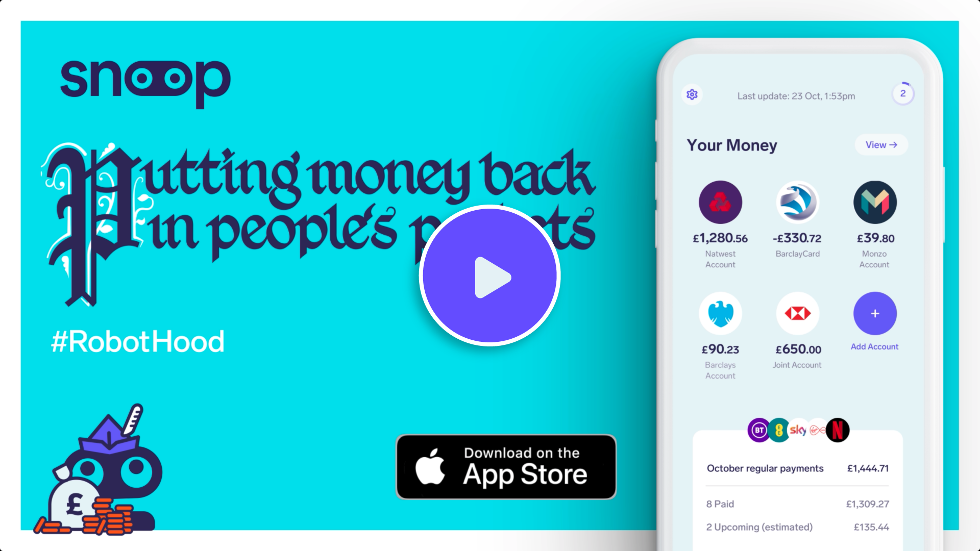 Still image of the Putting money back in peoples pockets advert