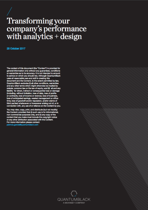Transforming your company's performance with analytics + design
