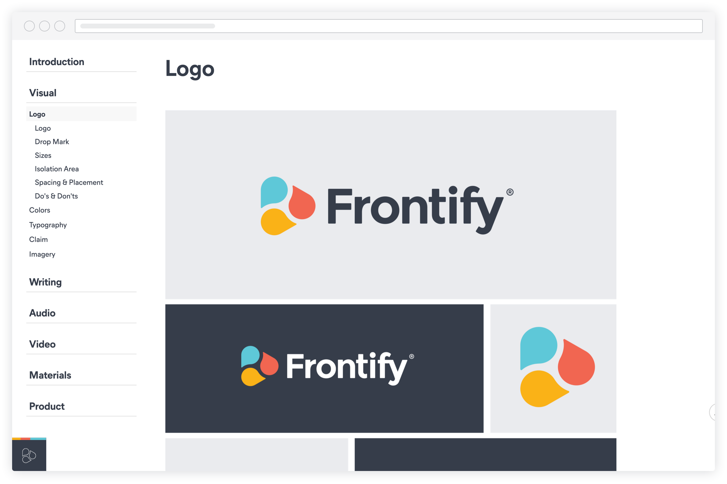 Screenshot frontify logo