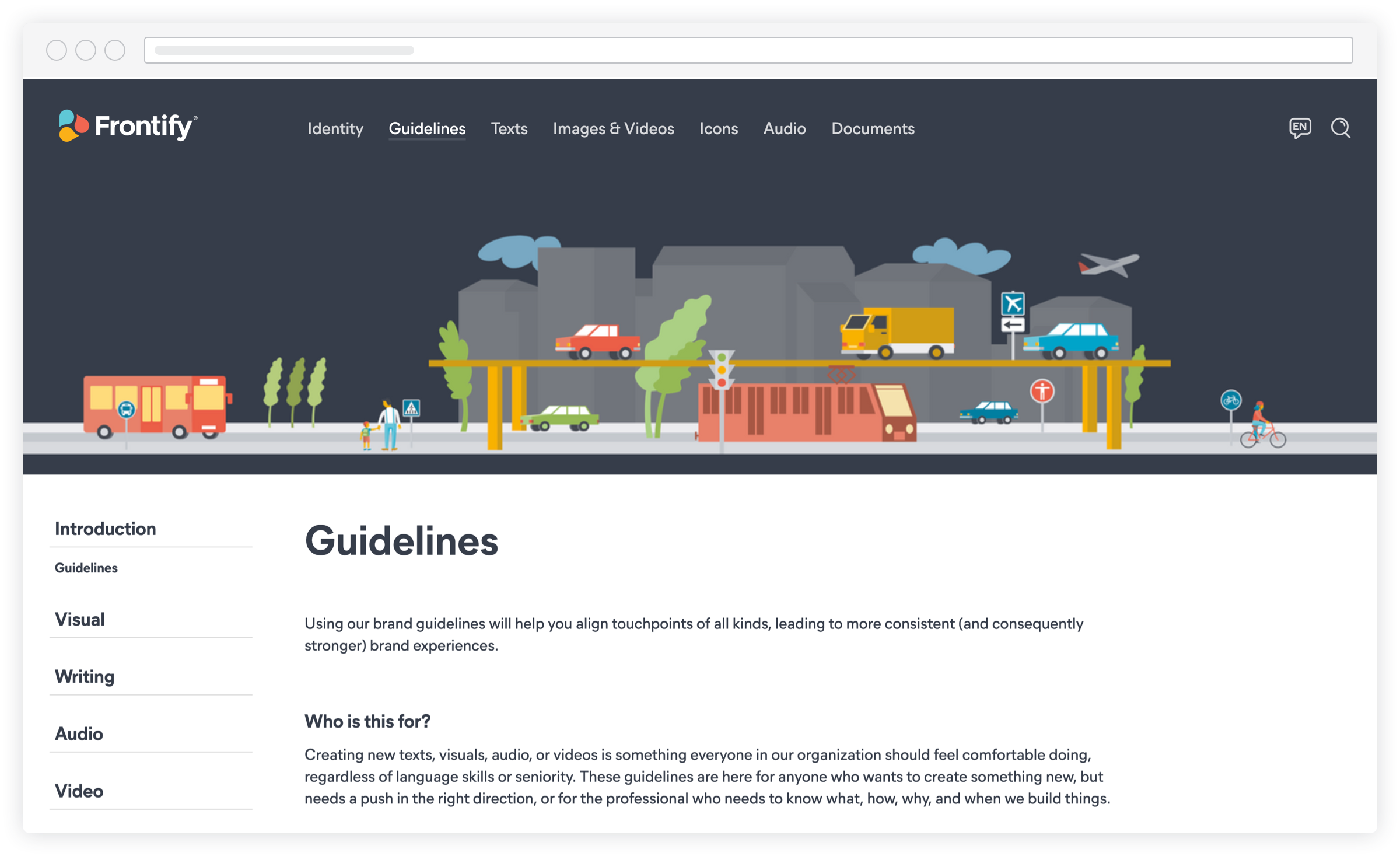 Screenshot frontifyGuidelines