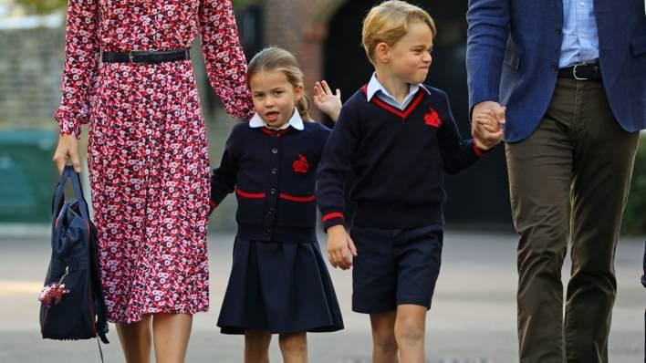Princess Charlotte and Prince George