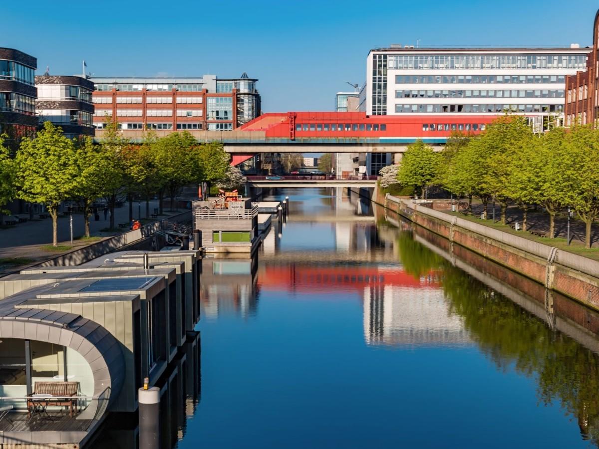 Hamburg Hammerbrook Kanal, Quelle:shutterstock