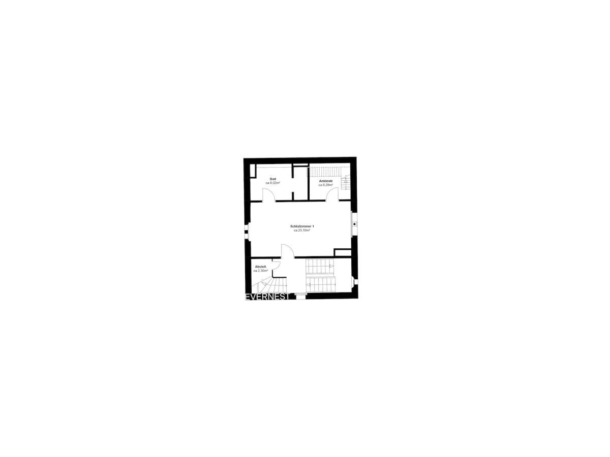 Grundriss 1. Turmgeschoss