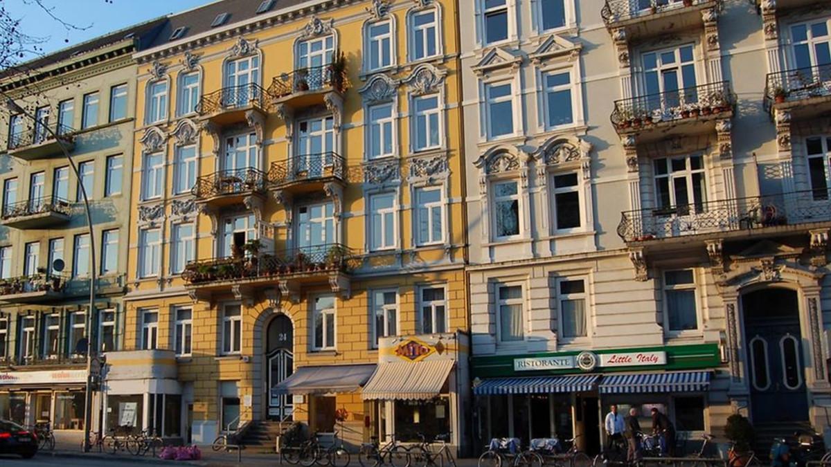 Hamburg Eimsbüttel Altbauten Wohnstraße