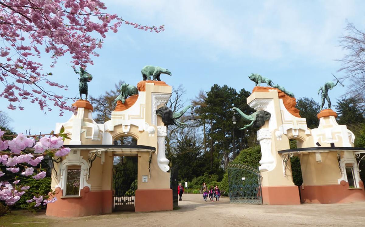 Hamburg Stellingen Hagenbek Tierpark alter Eingang