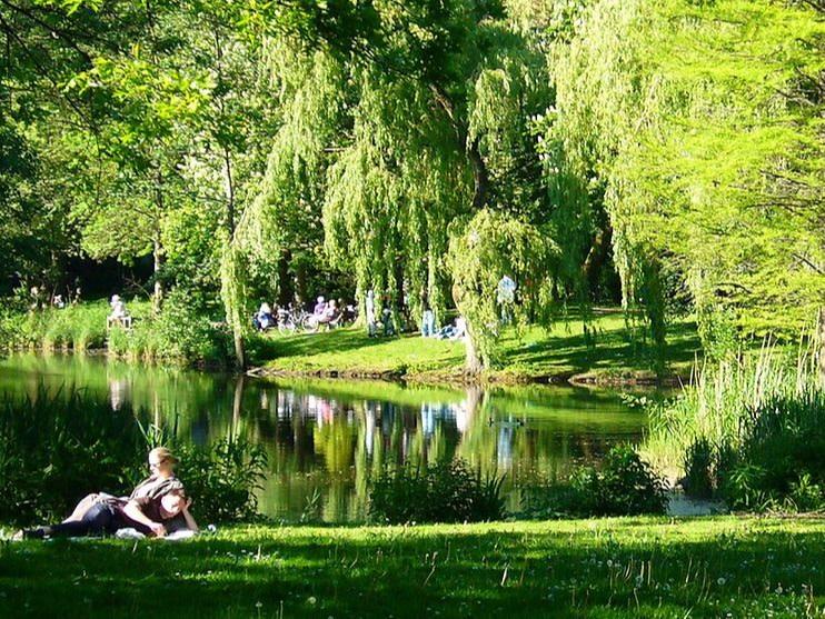 Hamburg Eimsbüttel Park am Weiher, copyright:BSU