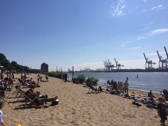 Hamburg Othmarschen Strandperle Elbe