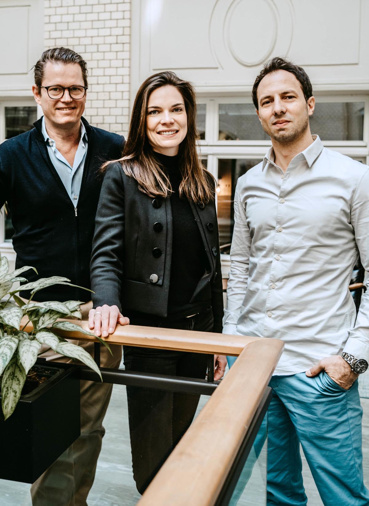 Evernest Geschäftsführung Christian Evers, Luisa Haxel und Stefan Betzold