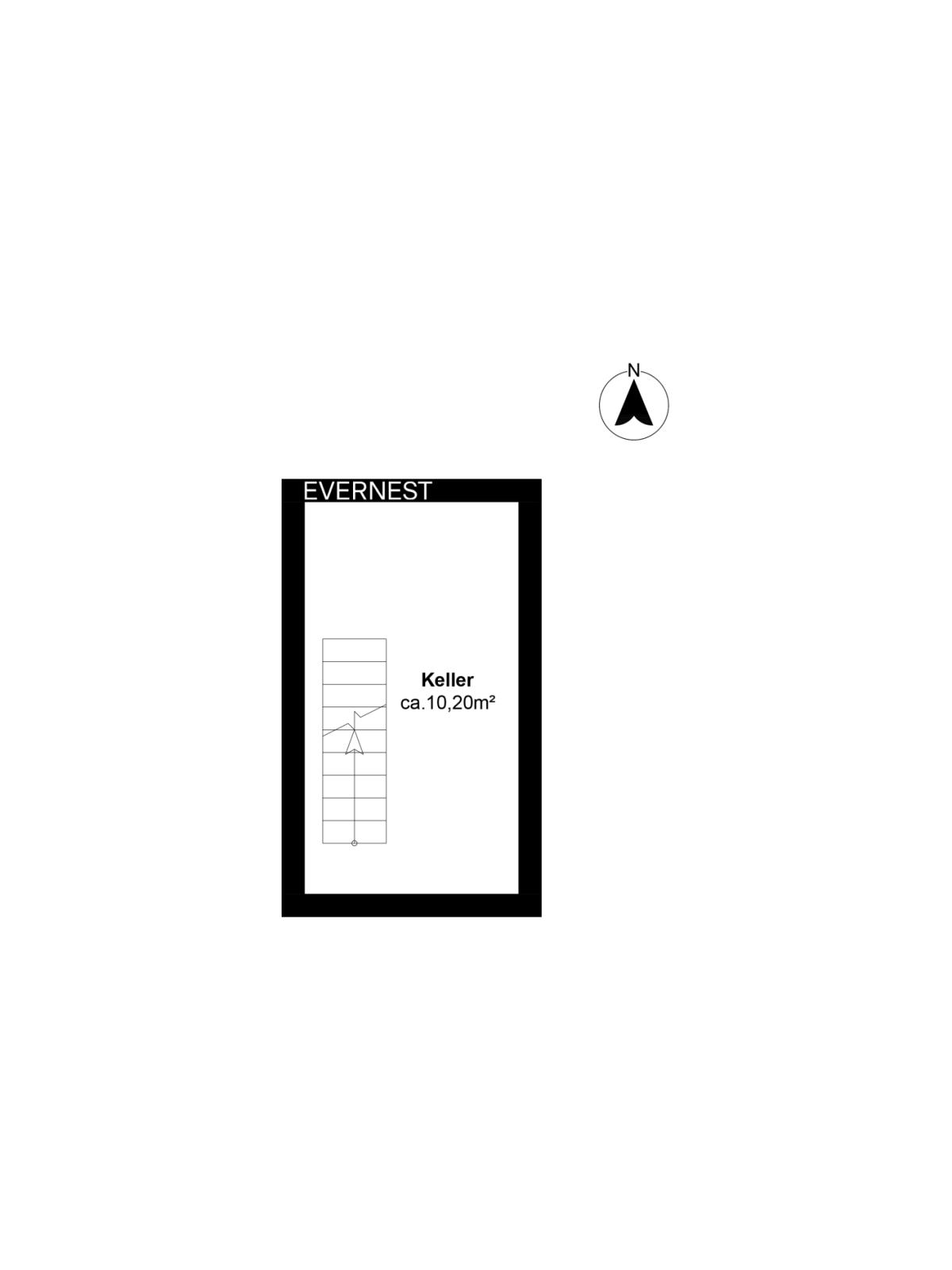 Der Grundriss des Kellergeschosses