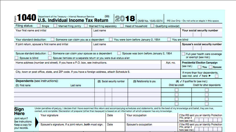 What Is Form 1040, and How Do You File It? | Bench Accounting