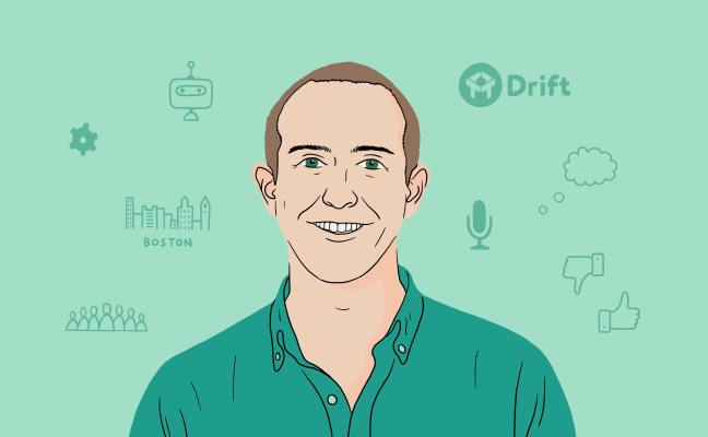 A portrait of Dave Gerhardt, VP of Marketing at Drift