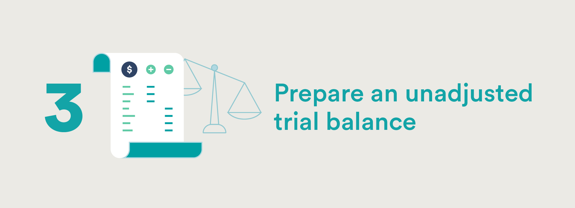 Accounting Cycle Step Three: Prepare an unadjusted trial balance