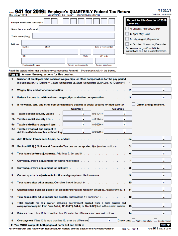 federal form 941  Form 15: Instructions & How to File it | Bench Accounting
