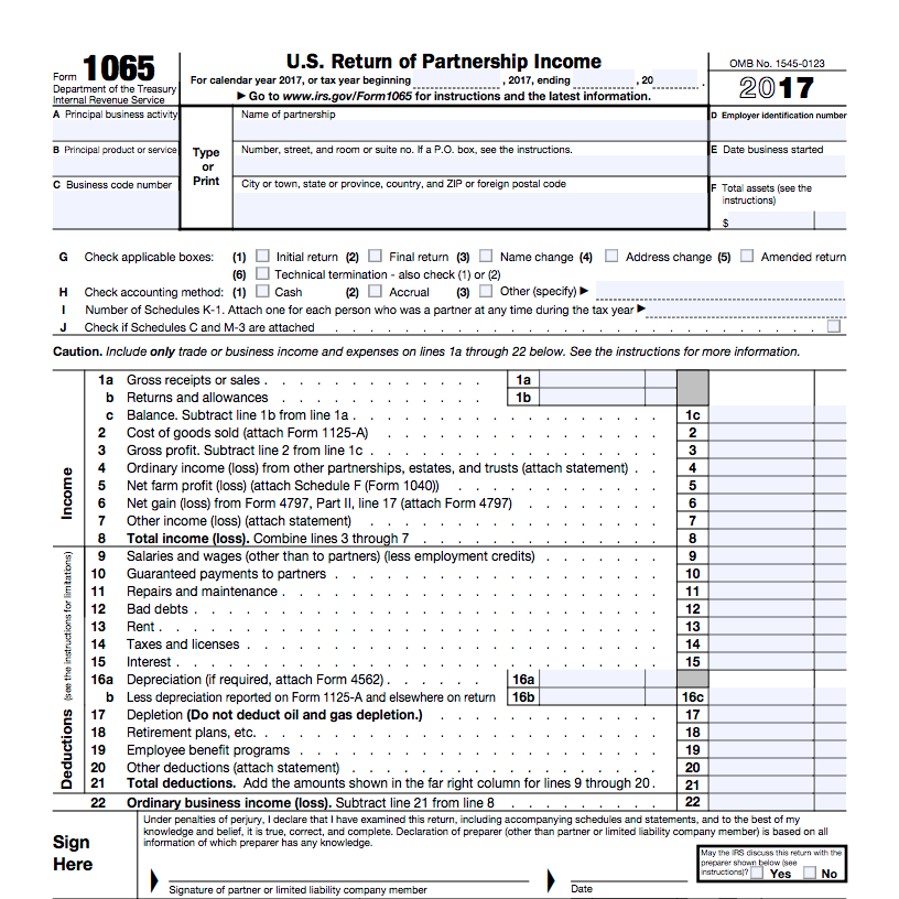 form 1065 line 22  What Is Form 11? | Bench Accounting