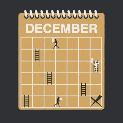 Year end tax moves. Business owners walk around on a calendar as if it is a Snakes and Ladders board.