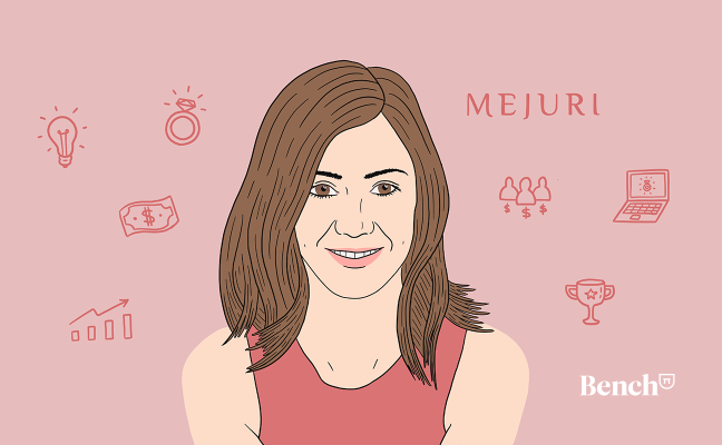 Illustration of Mejuri CEO and cofounder, Noura Sakkijha