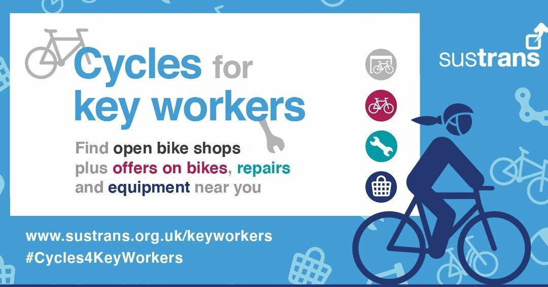 Council supports new Sustrans bike initiative for keyworkers