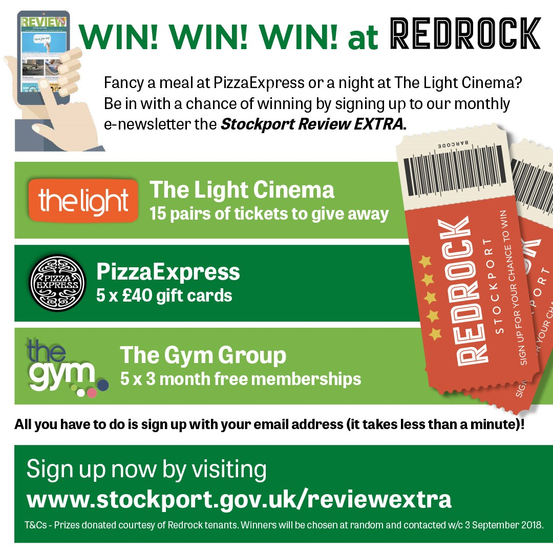 Plenty Of Prizes To Be Won At Redrock Stockport Council