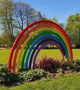 Torkington Park rainbow sculpture takes on extra significance for Stockport's key workers