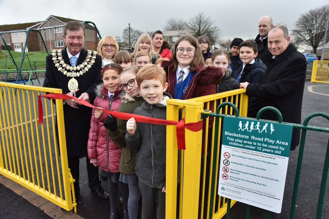 School children open park they helped design