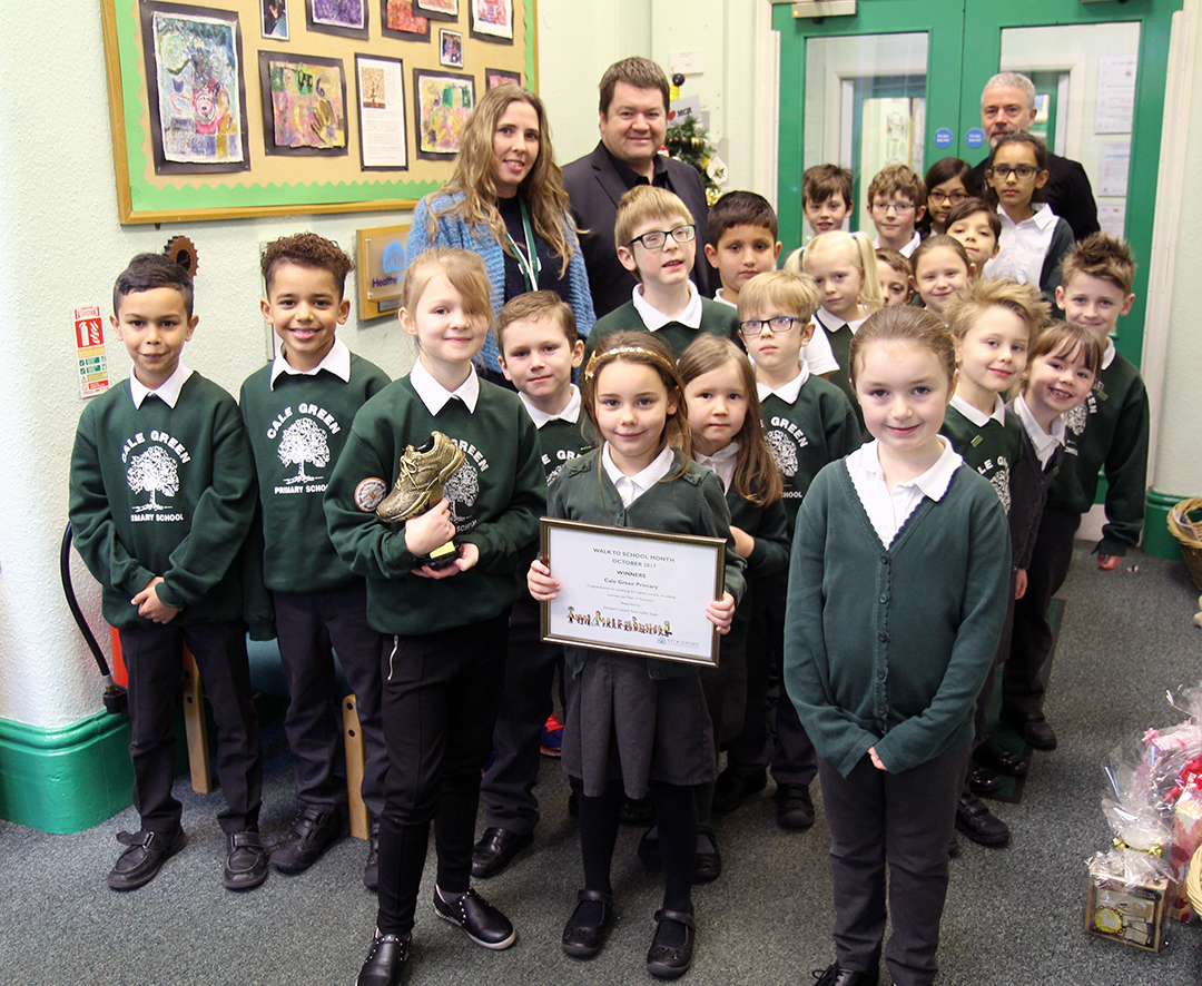 Winner of Walk to School Fortnight award announced