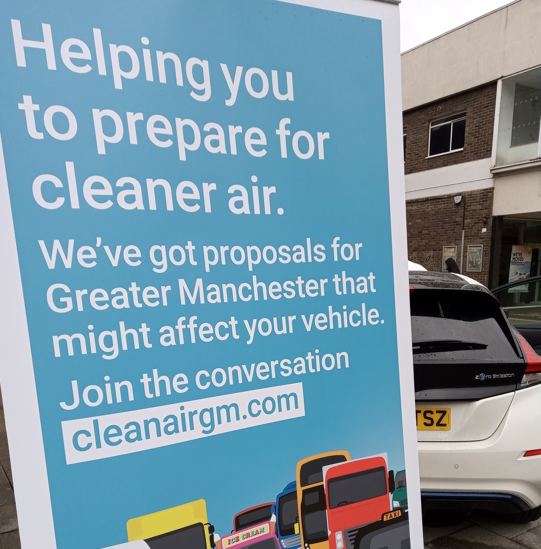 Council holds town centre roadshow as part of GM Clean Air campaign