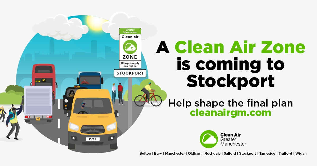 Stockport residents urged to give their views on plans for Clean Air zone