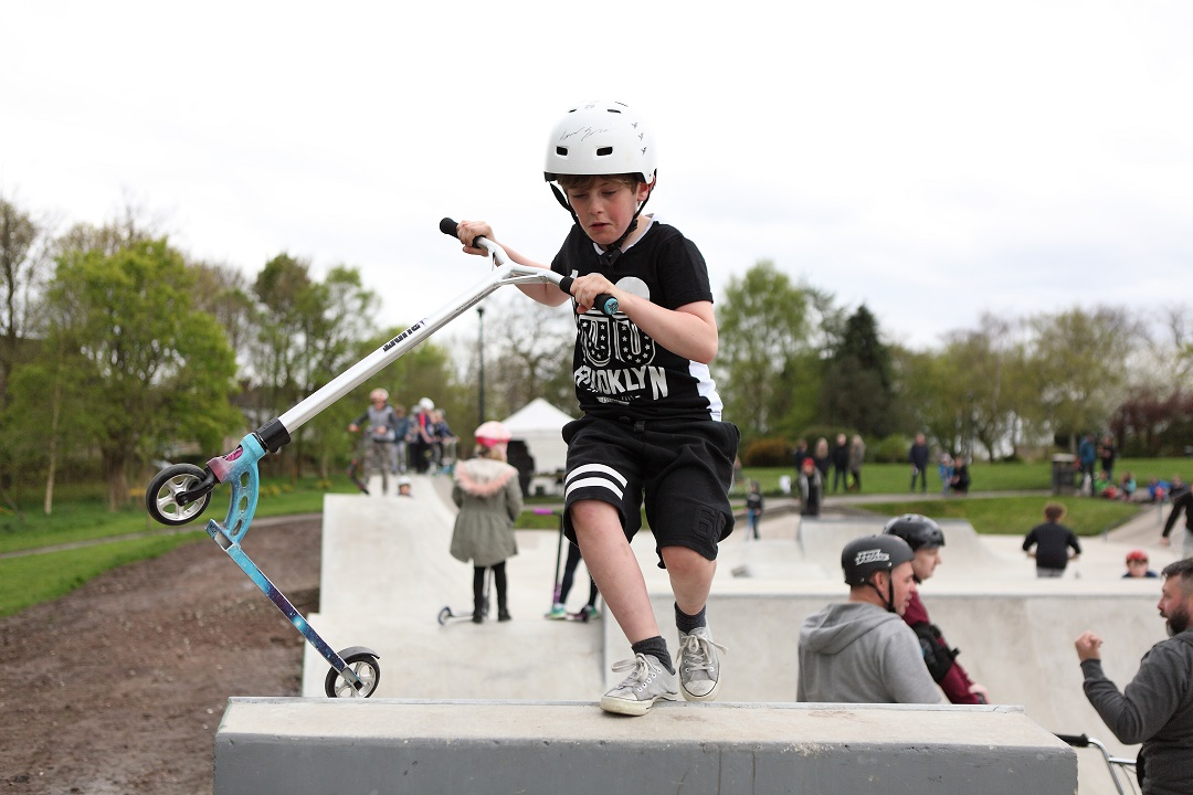 New skatepark in Marple Memorial Park, Marple