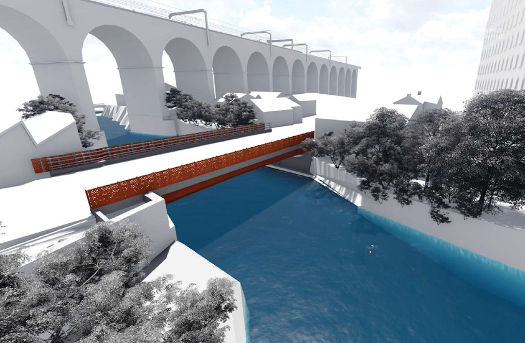 Work on town centre bridge link begins