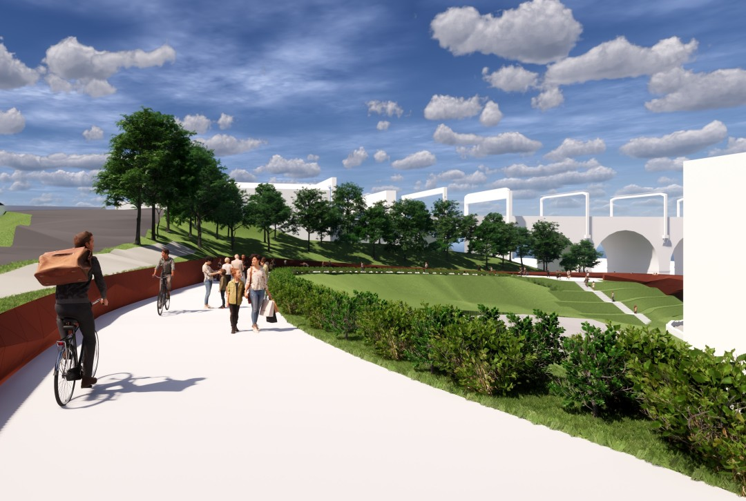Consultation opens on plans for new park and bridge at Stockport's new interchange