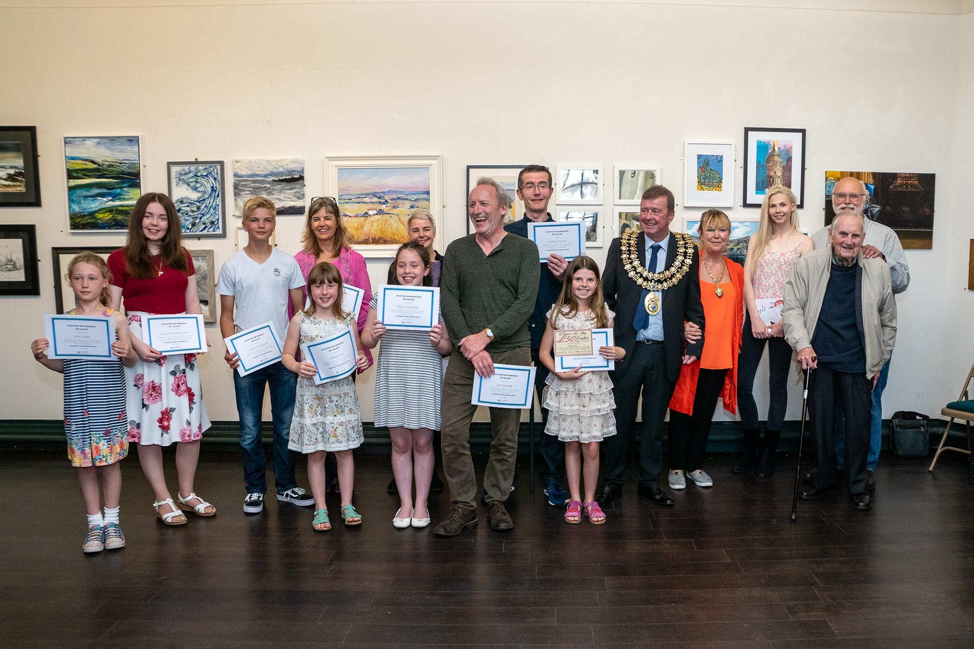 Stockport Open Art Exhibition Winners 2018