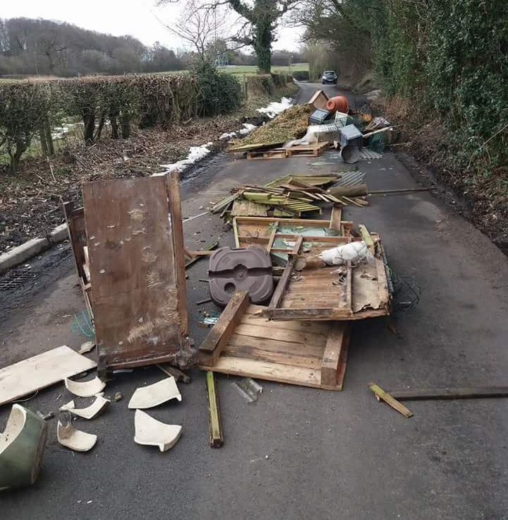 News - fly tipping on Threaphurst Lane