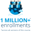 One million enrollments across all versions of this course