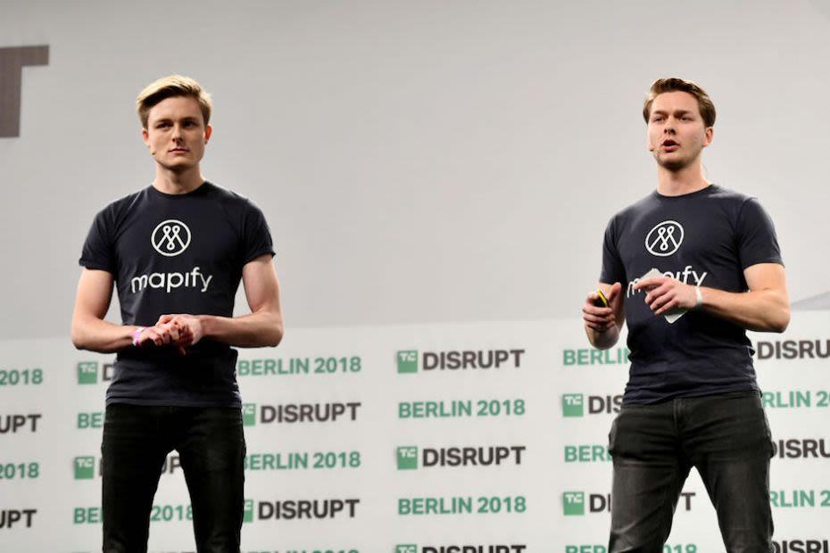 Sebastian and Patrick Haede TechCrunch Stage, Berlin - Press