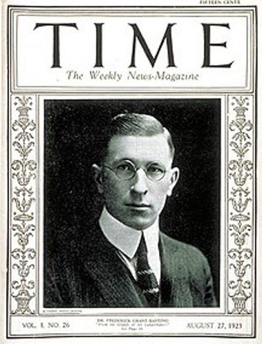 Dr. Aw - Capture of TIME magazine with Dr. Frederick Banting on the cover.