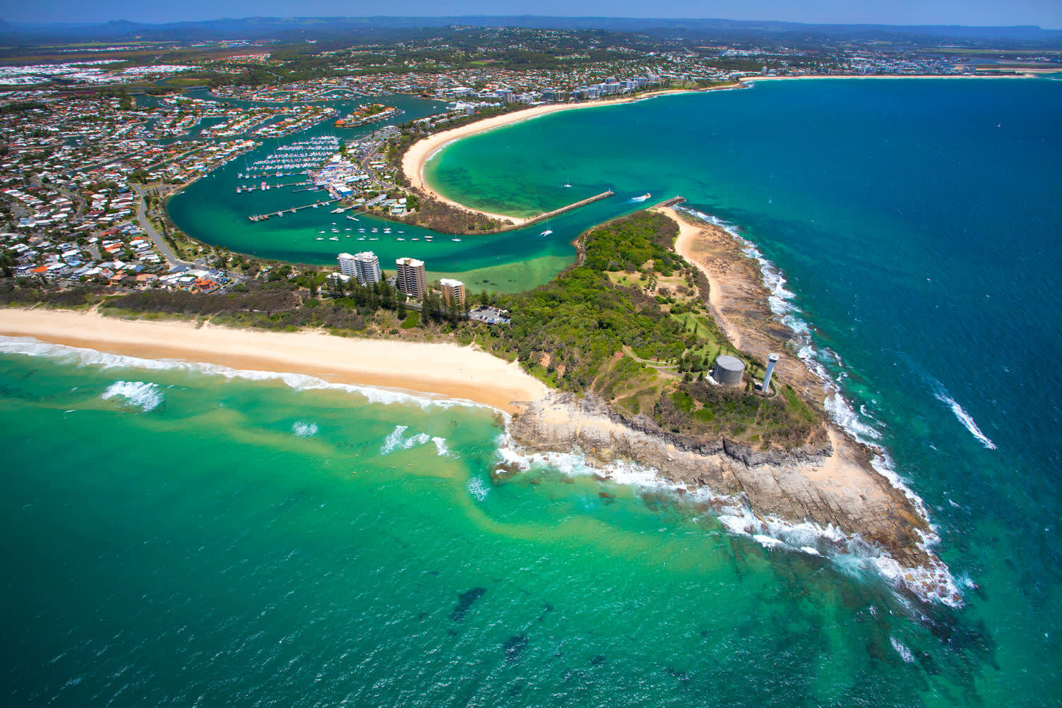 Point Cartwright Lighthouse from the air