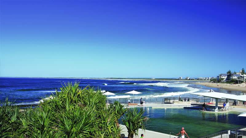 Kings Beach. Voted Australia's number one beach by Surf Lifesaving Australia in 2015.