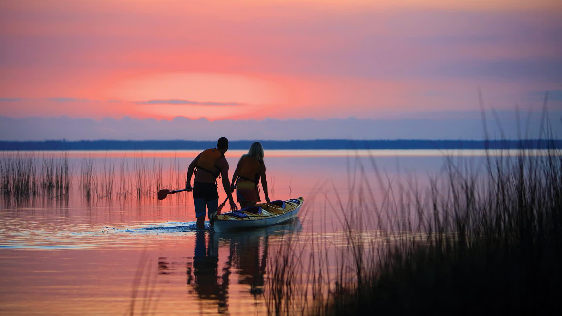 Paddling on Lake Cootharaba