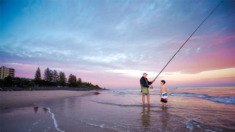 Fishing in Caloundra