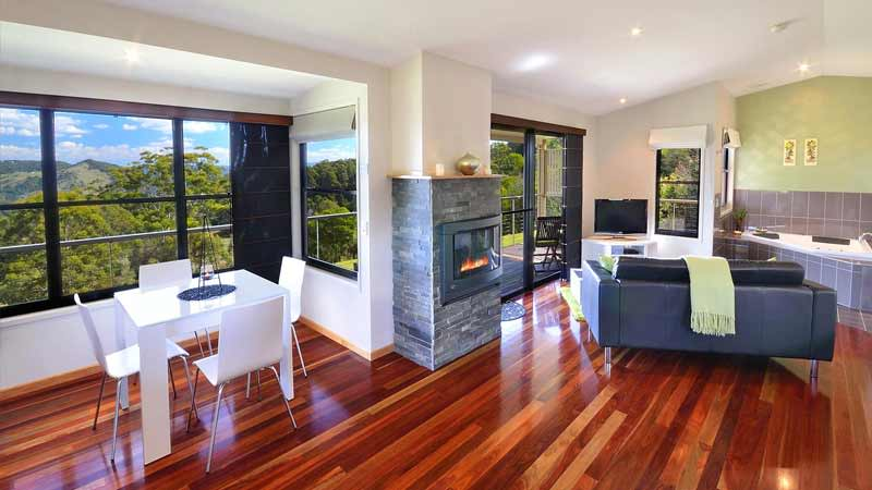 Winning accommodation options with stellar views in Maleny. Photo:Blue Summit Cottages