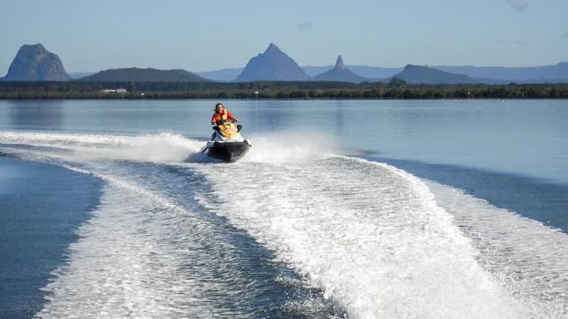 Jet ski adventures in the Pumicestone Passage