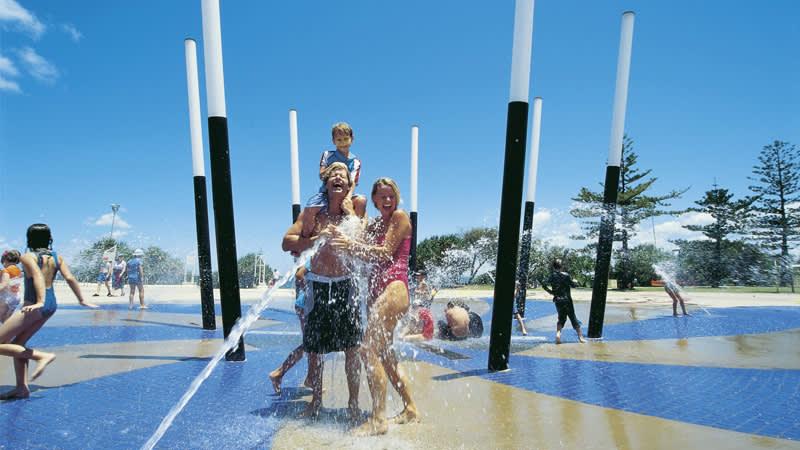 Kings Beach saltwater fountain