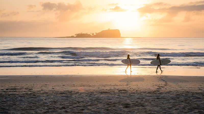 Sunrise surf at Mudjimba