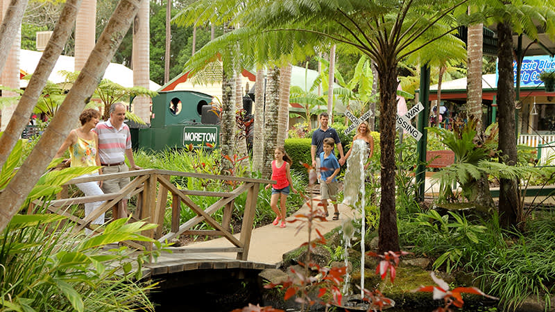 The Ginger Factory boasts a beautiful tropical garden