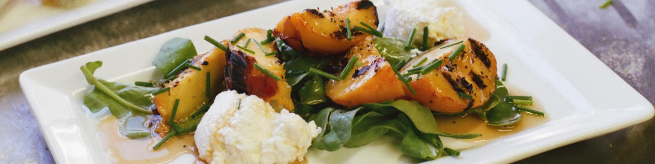 12 grilled peaches