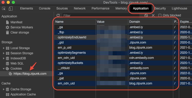 Chromeの検証ツール画面